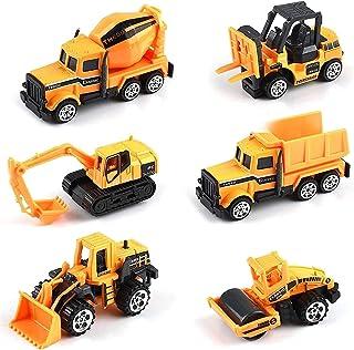 Mumoo Bear Kids Construction Toys - Kids Birthday Gifts, 6 Pcs Play Trucks Toy Construction Truck Toddlers Boys Small Kid ...