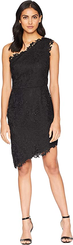 Marilyn Woven Lace One-Shoulder Sheath Dress