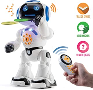 Top Race Robot Hablando de Juguete, Caminar, Control Remoto, Bailar, Cantar, Leer Historias, probar matemáticas, emitir Registros e imitar la Voz. (Habla Solo inglés) P2