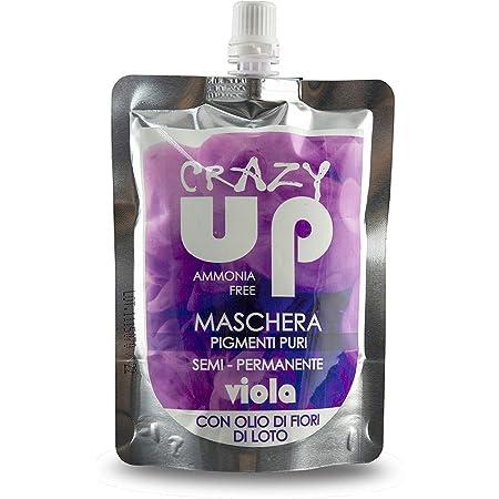Crazy Up Mascarilla Colorante Sin Amoniaco Semipermanente para el cabello - Púrpura - 200 ml