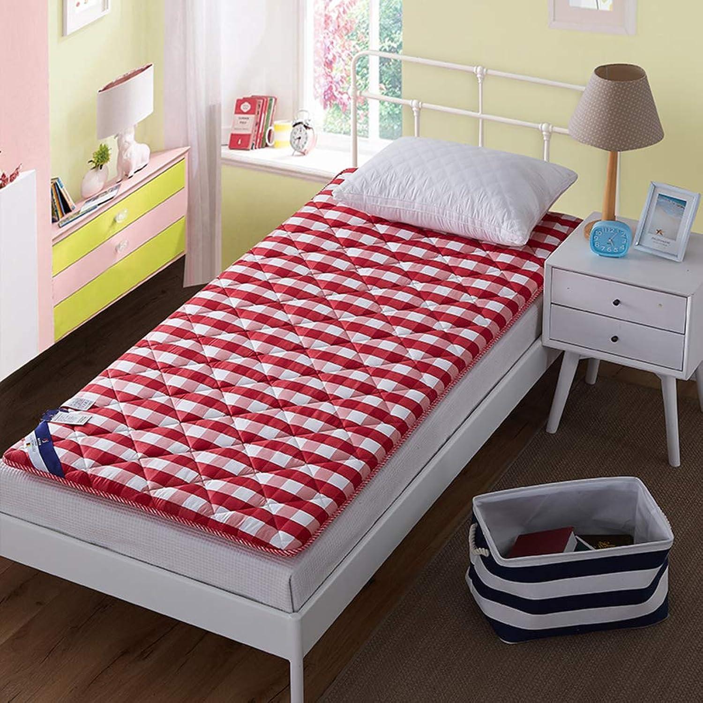 Cotton Mattress,Student Dormitory Single 0.9m Bed Mattress Quilt 1.0 m 1      2 m m.2 pad Tatami Floor mat Foldable Cushion mats-Pink 100x200cm(39x79inch)