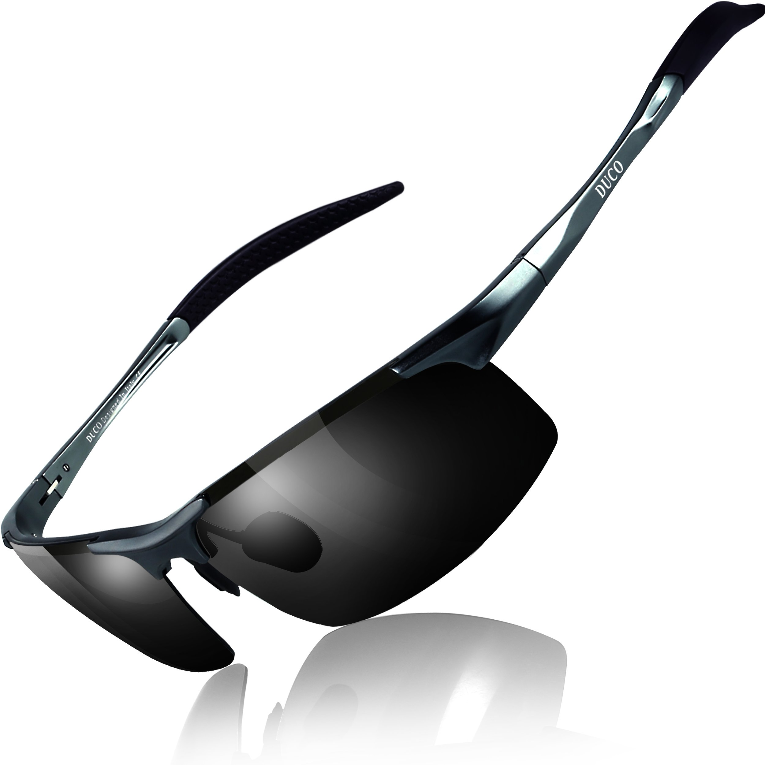 DUCO Polarized Sunglasses Protection Gunmetal