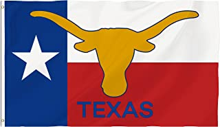 Bonsai Tree 3x5 Feet Texas State Flag - Vivid Color and Fade Resistant and Double Sided - Polyester Texas Longhorn Flags American States Home Decorations
