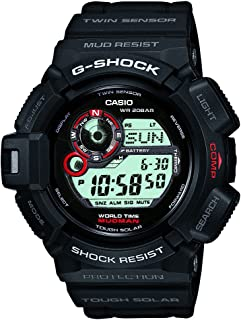 Casio Fan Sport Watch Digital Display For Men G-9300-1, Black Band