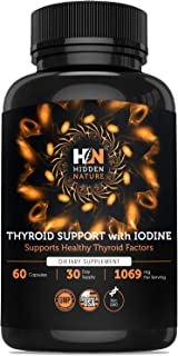 Thyroid Support Supplement with Iodine – Metabolism Booster for Weight Loss & Energy Pills – Hypothyroidism Supplements for Nature Throid with Ashwagandha, Selenium, Zinc Cooper