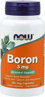 [海外直送品] ナウフーズ  - ほう素 3 mg。100カプセル