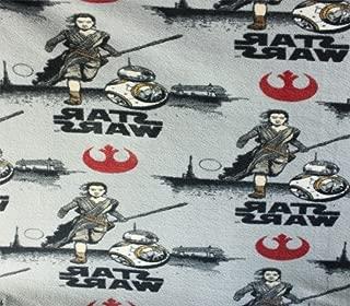 Fleece Fabric Printed Anti Pill Star Wars Anakin R2D2 Licensed