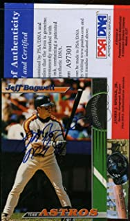 JEFF BAGWELL COA Autographed 1993 TOPPS STADIUM CLUB Authentic Signed - PSA/DNA Certified - Baseball Slabbed Autographed Cards