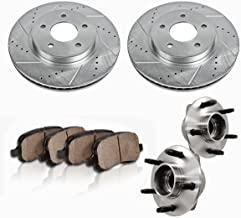 C513115X2DS [2] FRONT [ 5 Lug ] Wheel Hub Bearing Assemblies + Drilled/Slotted Rotors + Ceramic Brake Pads [ SN95 ]