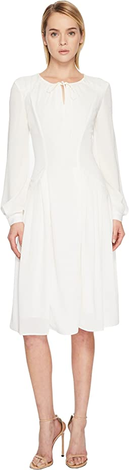 Zac Posen - Solid Crepe Long Sleeve Dress