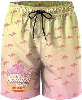 jdadaw Men's Beach Shorts Natural-Light-Naturdays-Strawberry- Summer Quick Dry Swimming Pants