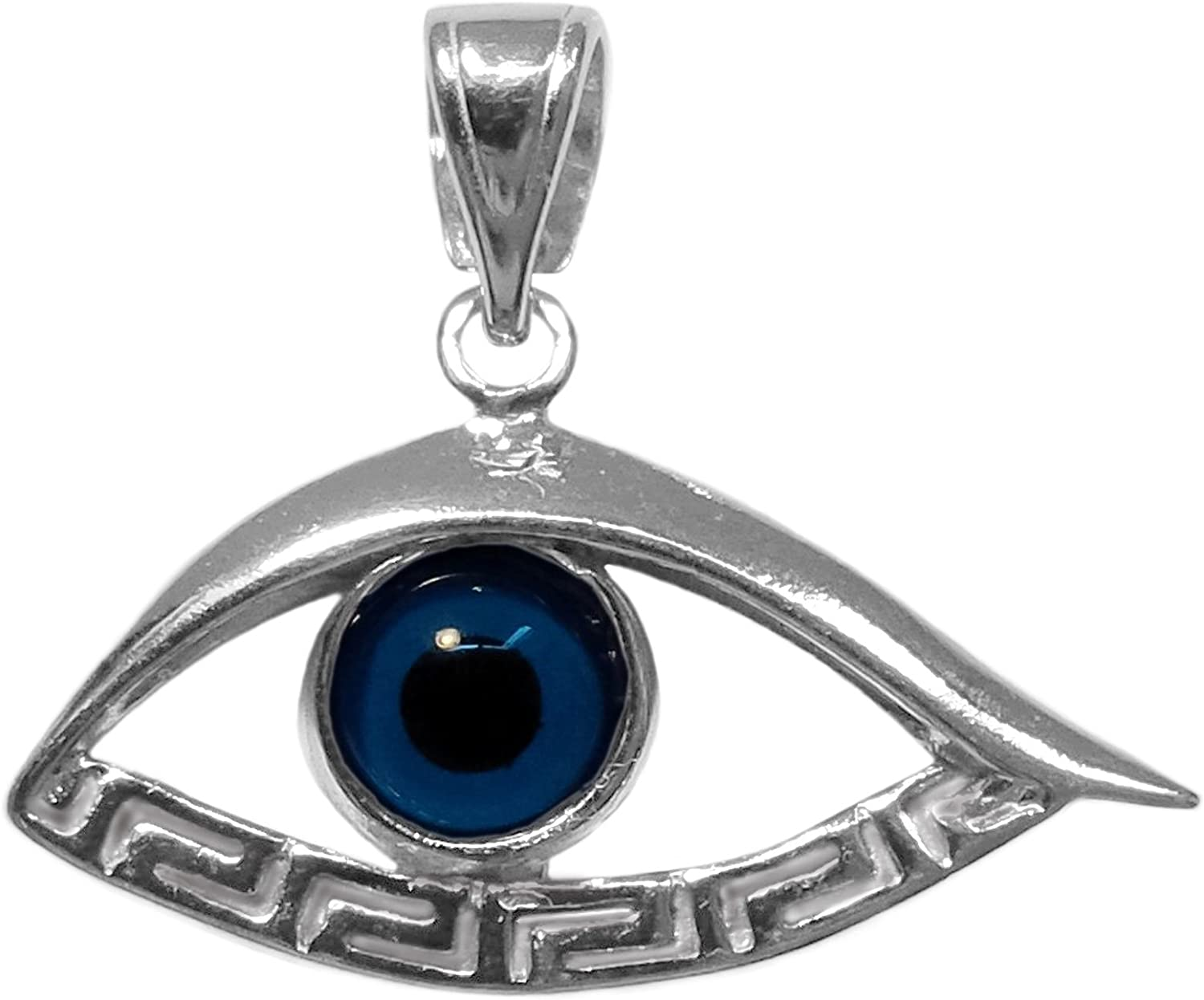 Super popular specialty store Sterling Silver Greek Key Evil Meandros Pendant Product Eye