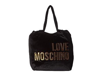 LOVE Moschino Large Logo Tote Bag (Nero) Handbags