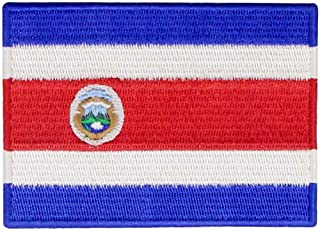 The Republic of Costa Rica Flag Patch Embroidered Applique Costa Rican Iron On Sew On National Emblem