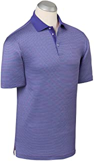 Bobby Jones Mens Performance Blend Star Jacquard Golf Polo Shirt