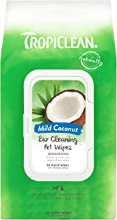 TropiClean Ear Cleaning Wipes for Pets, 50ct