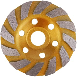 SogYupk 4-Inch Concrete Turbo Diamond Grinding Cup Wheel for Angle Grinder 12 Segs Heavy Duty ,Yellow