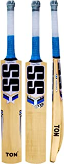 SS TON English Willow Cricket Bat (Free Extra Grip, Bat Cover Included) -Men's, 2019 Edition
