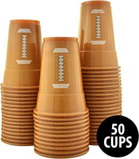 KOVOT 50-Pack 16 Ounce Football Cups | Soft Plastic Football Party Cups (50 Cups Included)
