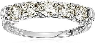 1 cttw 5 Stone Diamond Wedding Engagement Ring 14K White Gold