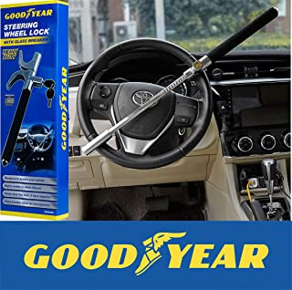 GOODYEAR HEAVY DUTY METAL HIGH SECURITY CAR VAN STEERING WHEEL LOCK CROOK LOCK