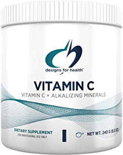 Designs for Health Buffered Vitamin C Powder 2000mg - Powdered Vitamin C (Ascorbic Acid) for High Dosing with Alkalizing M...