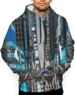 New York Street Shopping 3D All Printed Mens Hooded Pullover with Pocket Casual Hoodies Sweatshirt