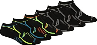 Saucony Men's Multi-Pack Bolt Performance Comfort Fit No-Show Socks Pairs 6 Socks