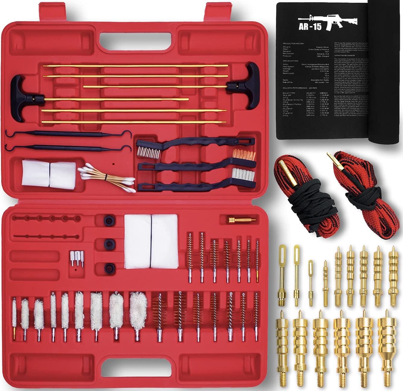 Universal free shipping Gun Bombing free shipping Cleaning Kit Brass 2 Jags Mat Snak Gunsmith