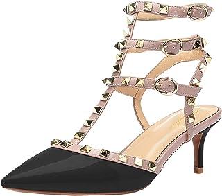 abd79778 Lutalica Zapatos de tacón Alto con Punta en Punta para Mujer Sandalias de  tacón Alto con