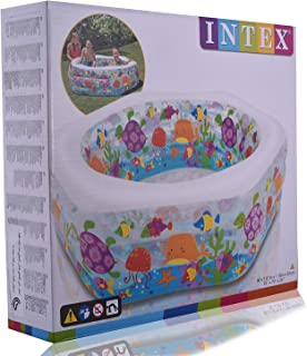 Intex 12-56493NP Hexagonal Paddling Pool with Ocean Reef Design 191 x 178 x 61 cm Phthalate-Free