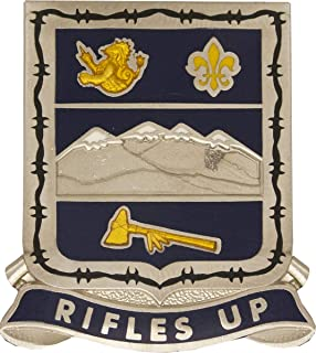 157th Infantry Regiment CO ARNG Unit Crest (Rifles Up)