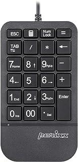 Perixx PERIPAD-205U - Tastiera numerica sottile con cavo, per computer portatile e desktop, grande lettera di stampa, sche...