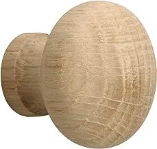 Metafranc Meubelknop Ø 35 mm - eiken - onbehandeld - hoogwaardige afwerking - mooi vormgegeven & decoratief - incl. montag...