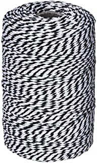 656 Feet Black and White Twine,Cotton Bakers Twine Cotton Cord Crafts Gift Twine String for Holiday