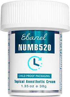 Ebanel 5% Lidocaine Topical Numbing Cream Maximum Strength, 1.35 Oz Pain Relief Cream..
