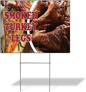 Plastic Weatherproof Yard Sign Turkey Legs Smoked Turkey Legs #1 for Sale Sign One Side 18inx12in