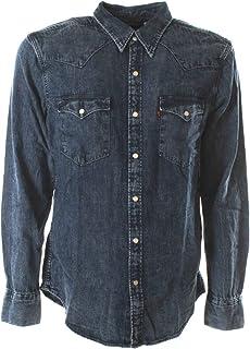 Levi's de los Hombres Camisa estándar Occidental de Barstow, Azul