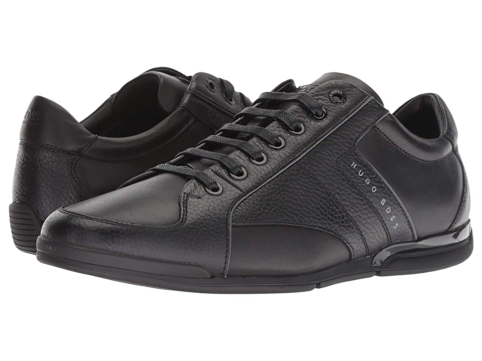 BOSS Hugo Boss Saturn Leather Sneaker by BOSS Green (Black) Men