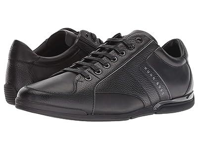 BOSS Hugo Boss Saturn Leather Sneaker by BOSS Green (Black) Men