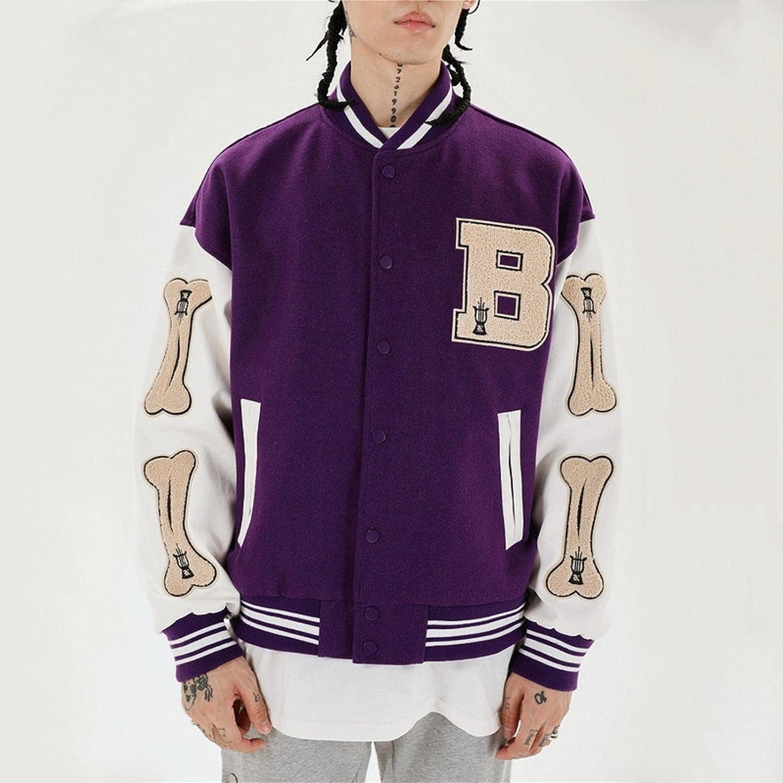 Harajuku Bomber Chaquetas Pareja de Hombres Chaqueta de béisbol Abrigo de Las Mujeres 2021 Autumn Unisex Boyfriend Style Varsity Hiphop Streetwear
