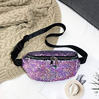 Chest Bag Women Sequin Fanny Pack Fashion Female Waist Bag 2019 Outdoor Sport Chest Messenger Bag Bum Belts Waist Packs pochete Feminina