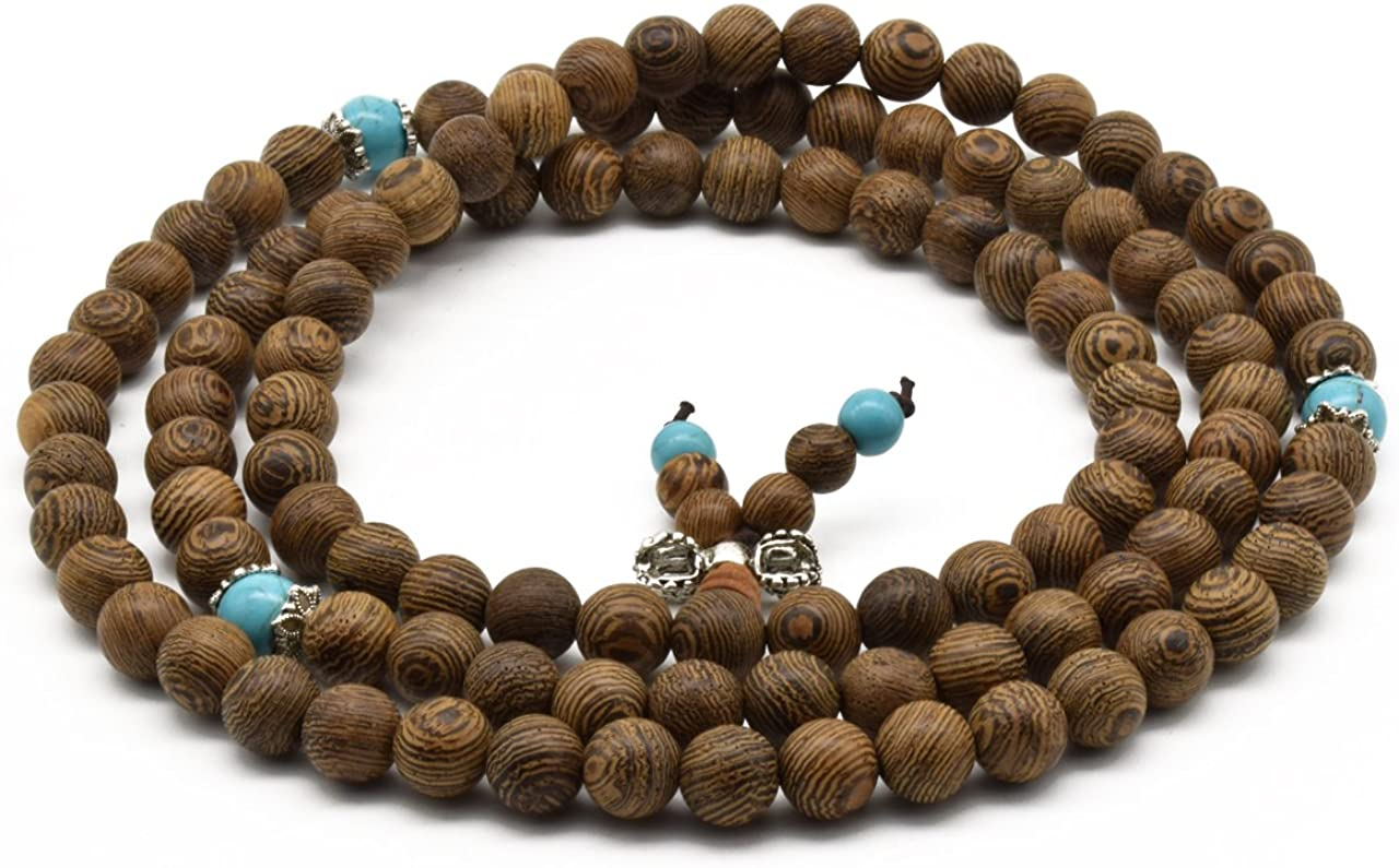 Zen Dear Unisex Natural Wenge Necklace Mala Seattle Mall Beads Prayer Bracele Luxury goods