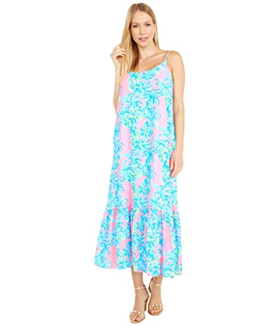 Lilly Pulitzer Winni Midi Dress (Pelican Pink Beat The Heat) Women