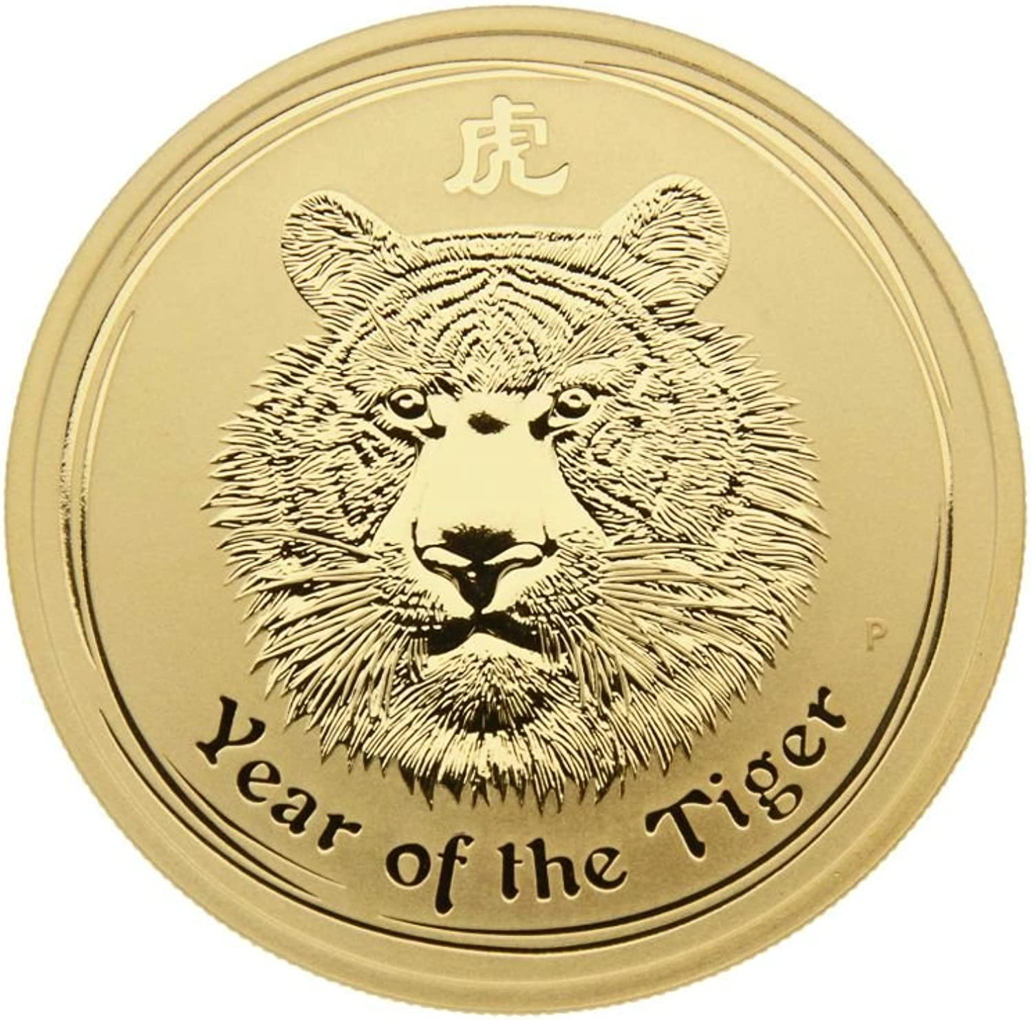 1 oz Goldmünze Australien 2010 Lunar Serie II  Year of the Tiger  - 1 Unze 999,9 Gold
