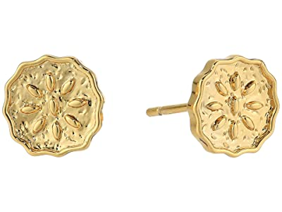 gorjana Mosaic Coin Studs Earrings (Gold) Earring