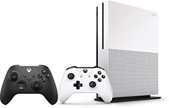 Xbox One S 1TB Bundle - Version 2, 2X Wireless Controllers (1x White + 1x Black) - 1 Month Xbox Game Pass Trial