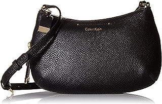 حقيبة طويلة تمر بالجسم من Calvin Klein Raelynn Pebble Leather