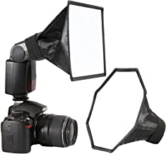 waka Flash Diffuser Light Softbox, [2 Pack] Speedlight Softbox Collapsible with Storage..