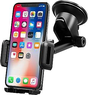 Mpow Kfz Halterung für Telefon, Armaturenbrett, Telefon Halterung, KFZ Halterung für Smartphone, 360° drehbar, Teleskoparm, Winkel, Schwarz